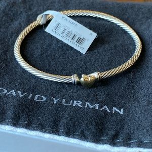 David Yurman Cable Heart 18K Gold Bracelet